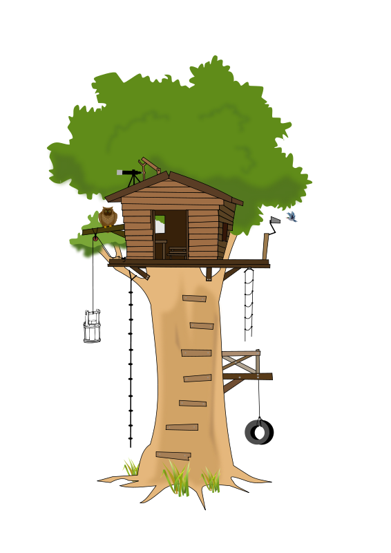 banner library stock Free house cartoon tree. Grades clipart animated