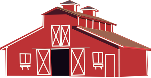 clipart royalty free Red cool old csp. Farmhouse clipart simple barn