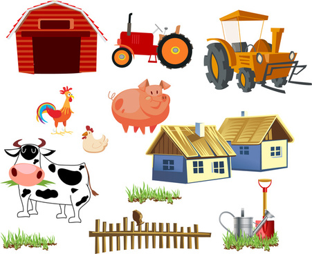 vector black and white download Farm free vector download