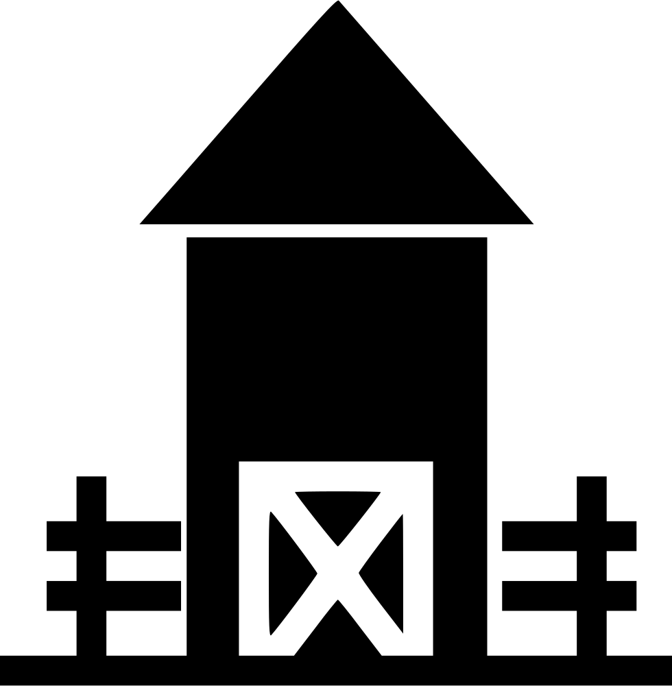 black and white stock Farmhouse Svg Png Icon Free Download