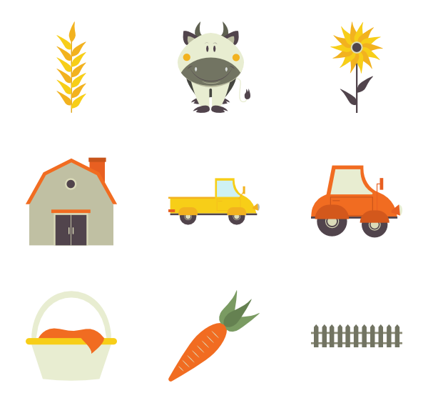 image royalty free Field Icons