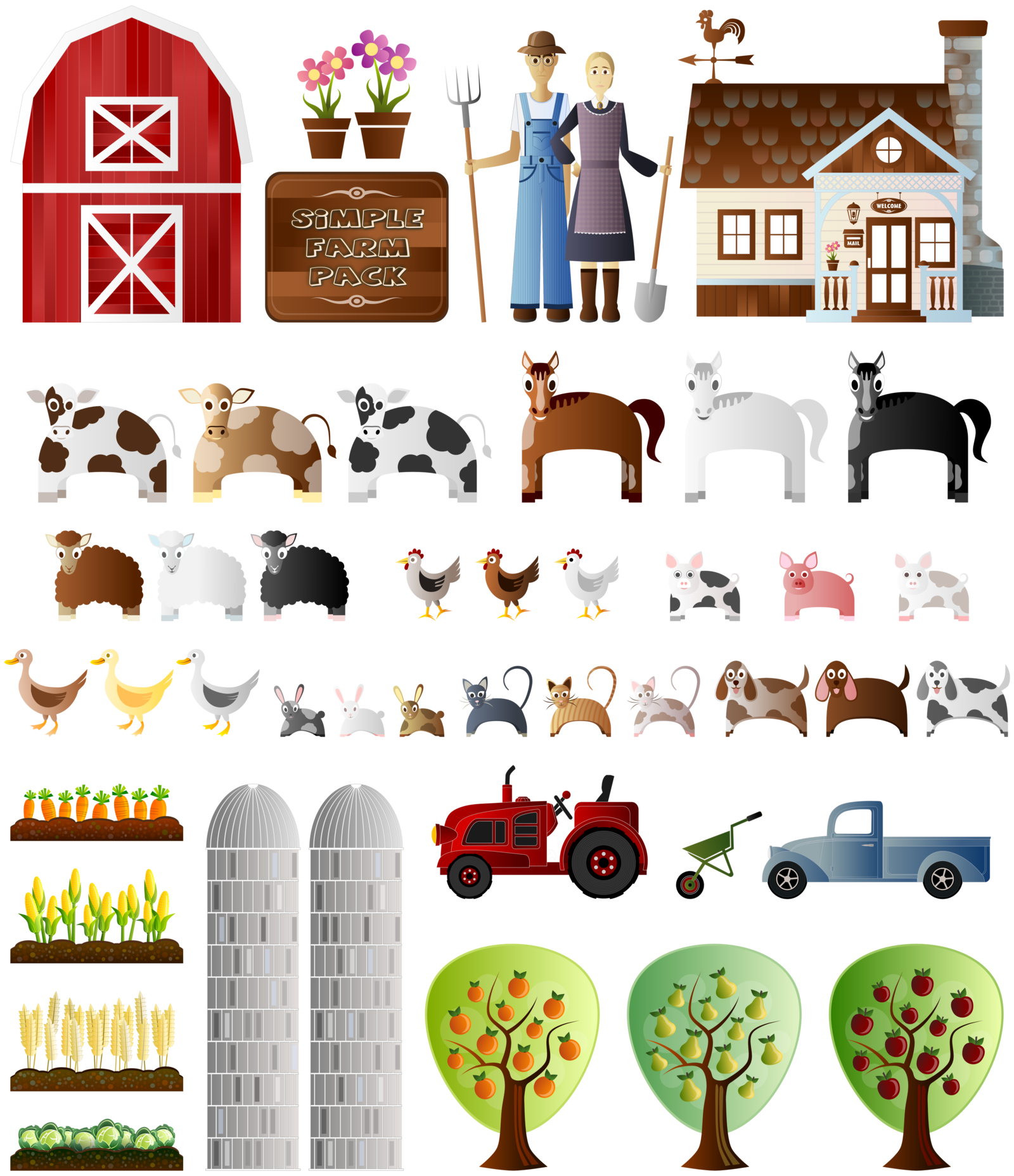 vector free Simple Farm Pack by Viscious