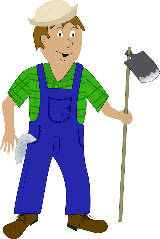 black and white Farmer PNG Transparent Images