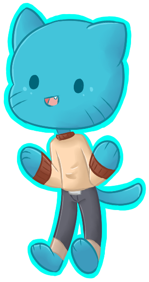 vector free Chibi Gumball by Mr