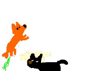 clip library stock Fox fart