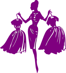 png free library Purple shopper clip art. Fashion clipart.
