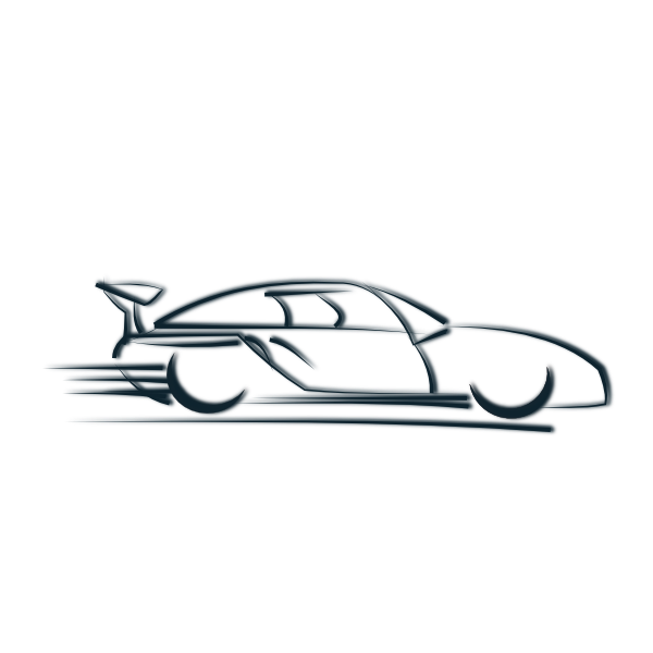 image transparent Cars clipart black and white. Fast car panda free