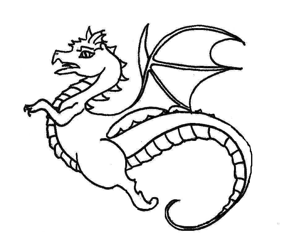 graphic library stock Fast Flying Dragon Coloring Pages