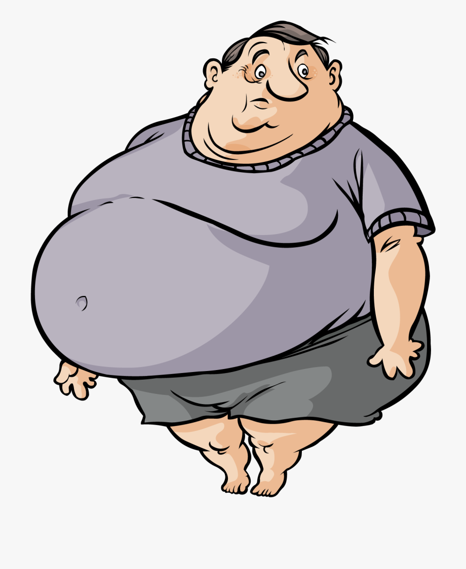 image free library Fat clipart. Cute cartoon man free.