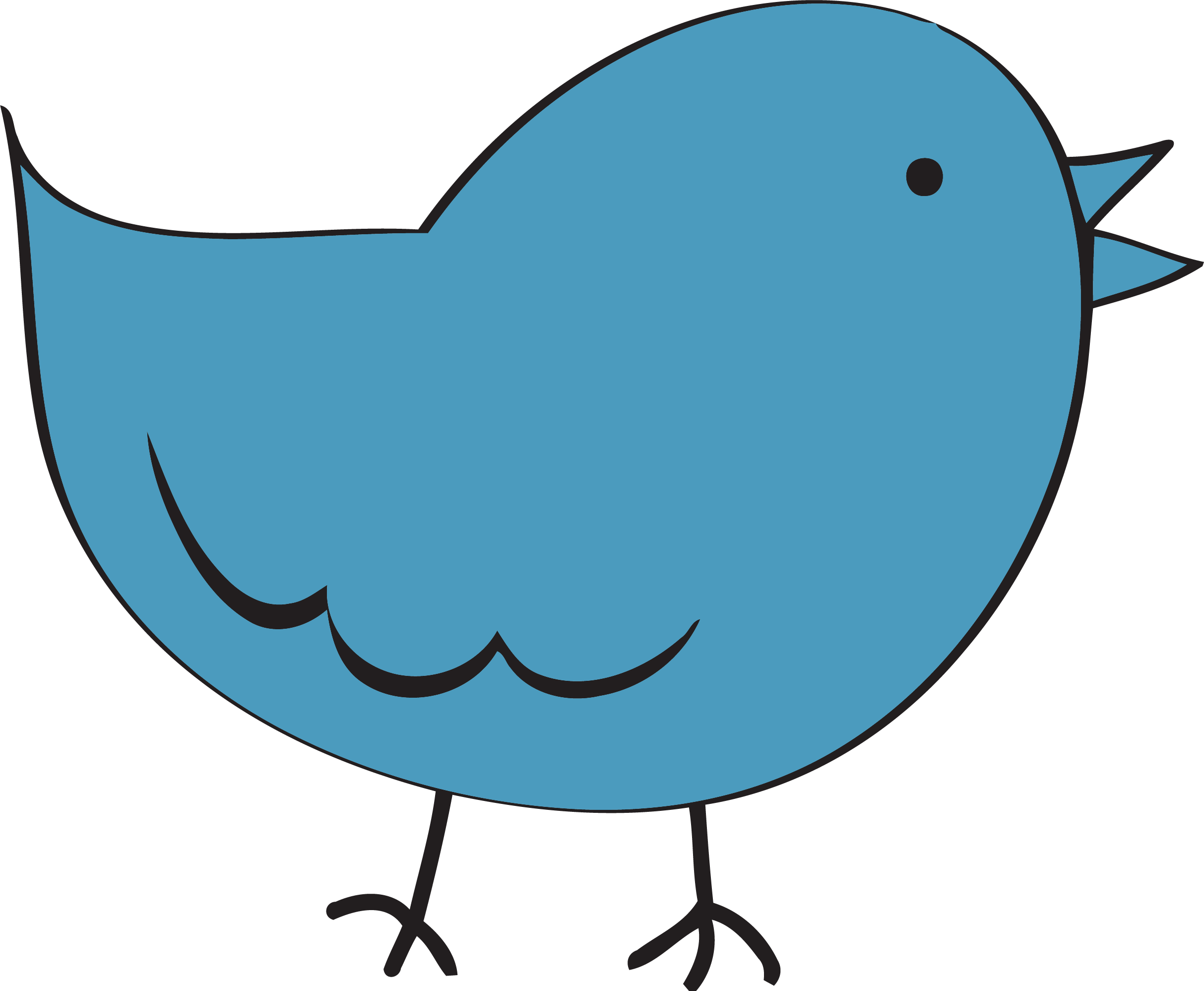 banner royalty free Fat clipart. Steel blue cute bird.