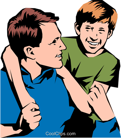 vector library library Father And Son Clipart at GetDrawings