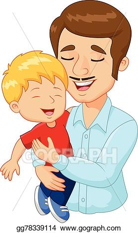 vector free Father clipart. Vector cartoon happy family