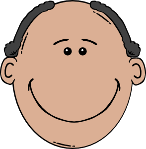 clip black and white library Man world label clip. Mothers clipart face.