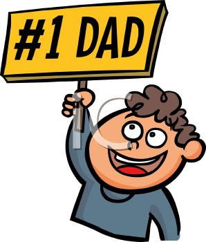 graphic royalty free Fathers clipart boy dad. Iclipart holding a number