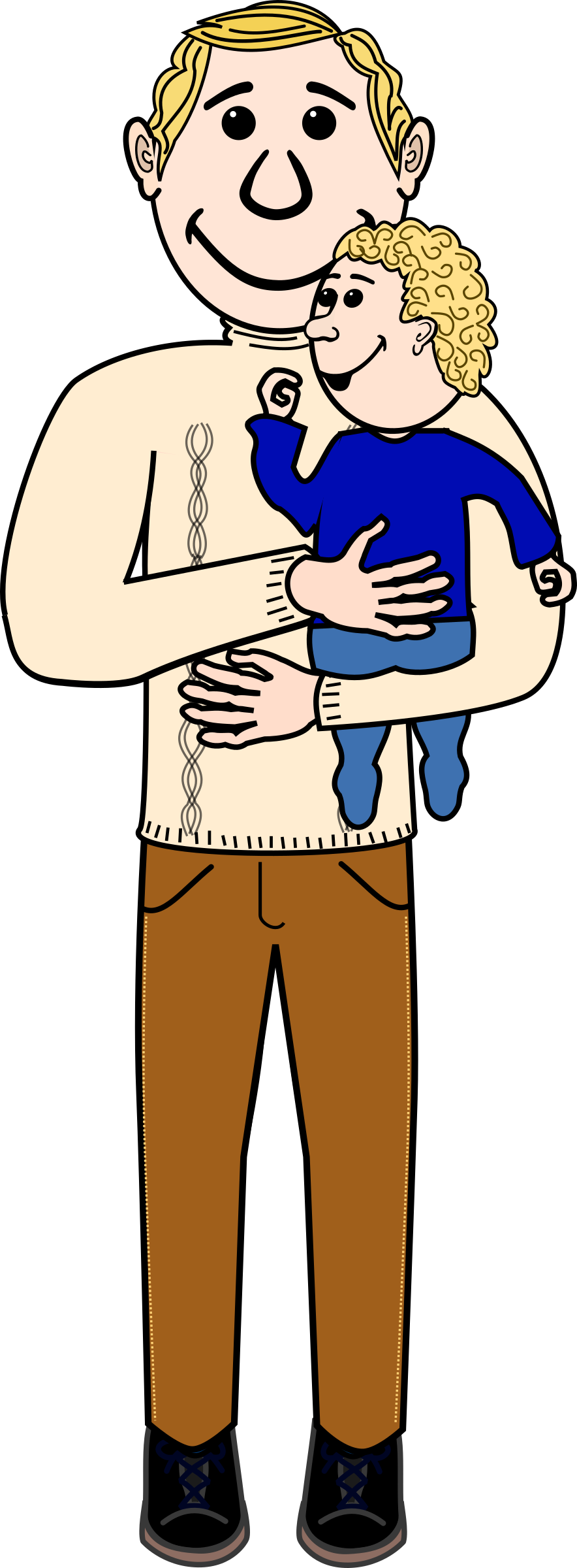 svg free Fathers clipart boy dad. And baby transparent png