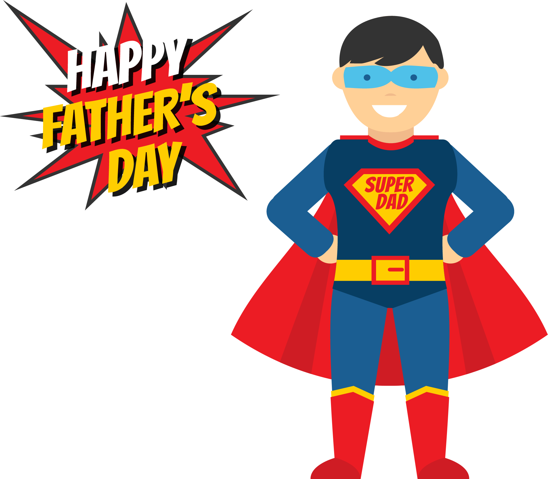 clip art royalty free library Fathers Day Superhero Illustration