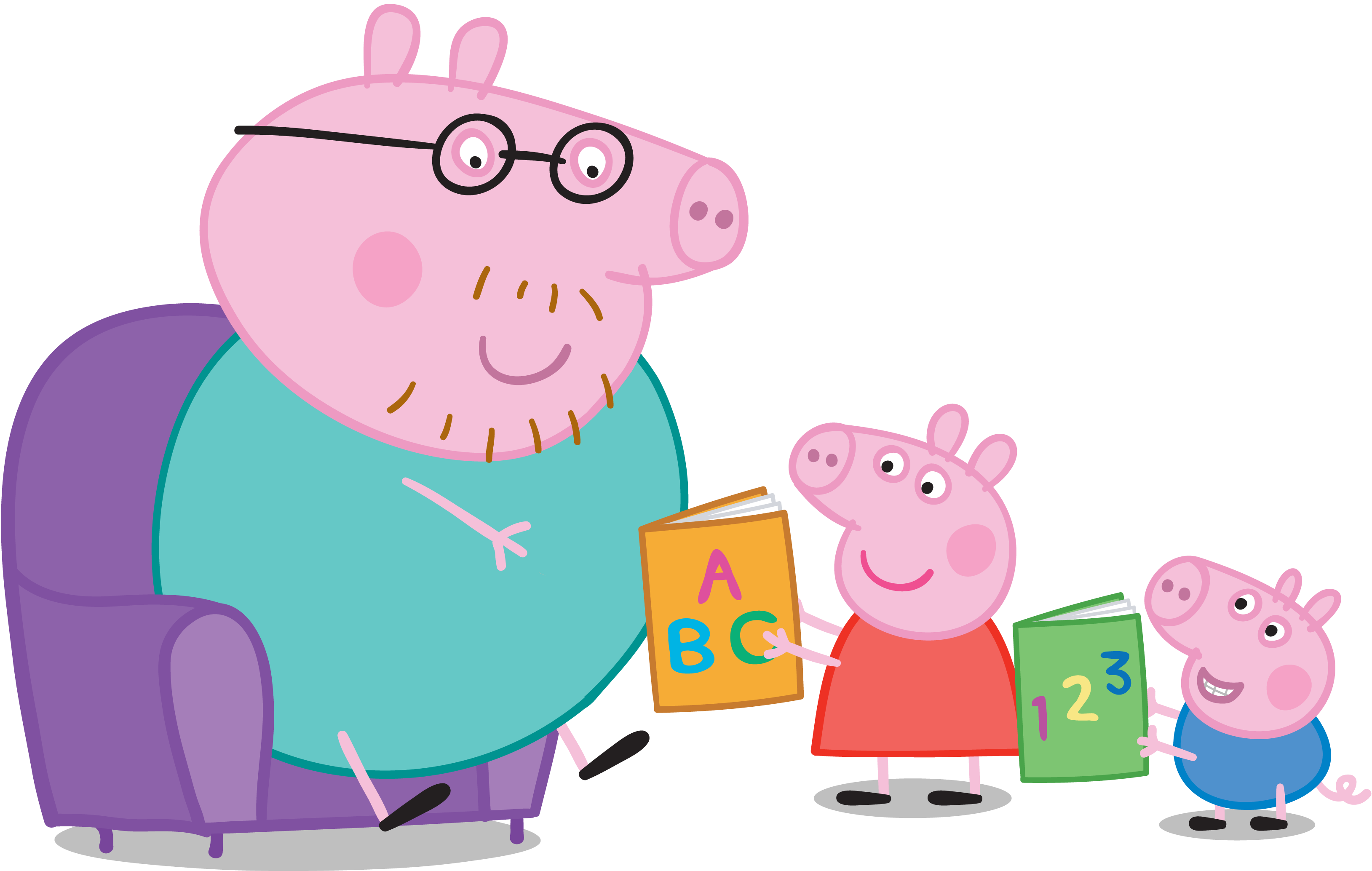 vector free stock Daddy pig s top. Fathers clipart read with dad