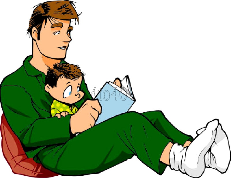image transparent Fathers clipart read with dad. Free cliparts download clip
