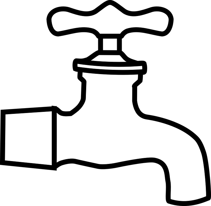 black and white stock Tap Clipart bathroom tap