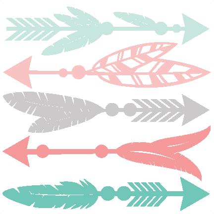 svg download Set svg scrapbook cut. Feather arrow clipart