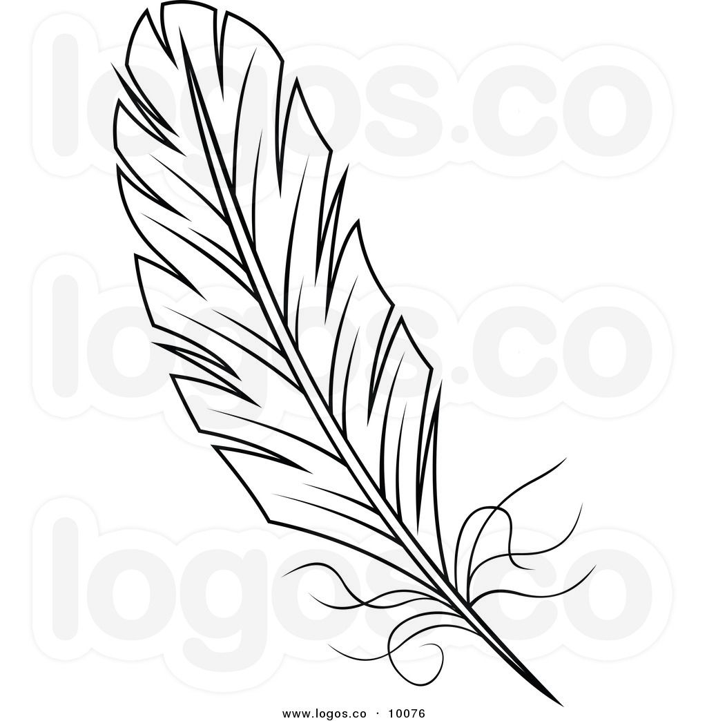 download Feather clipart. And white logo clip