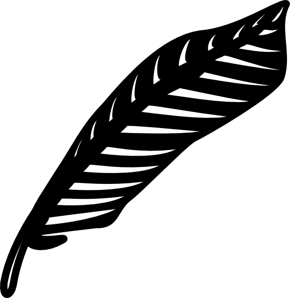 graphic black and white stock Turkey feather clipart black and white free
