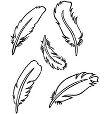 svg black and white download Feathers clipart. Free indian feather cliparts