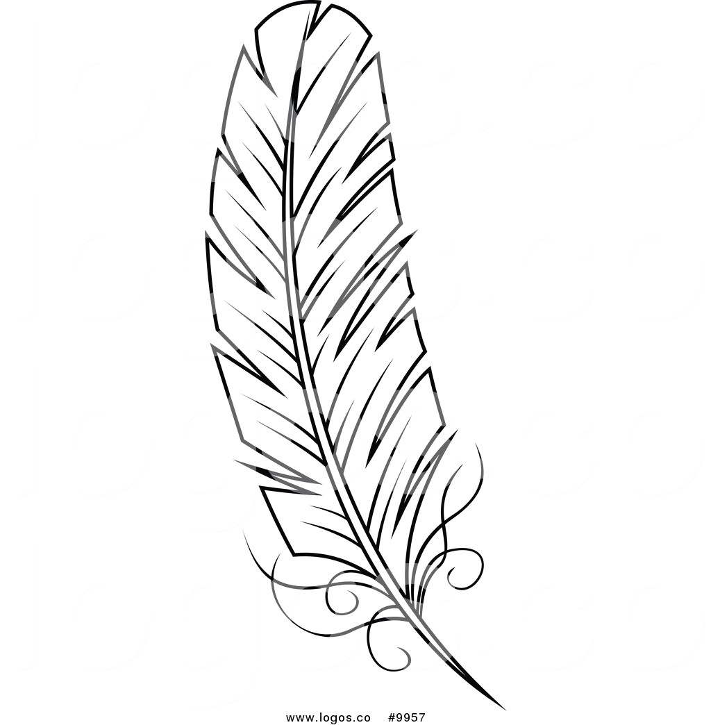 picture royalty free stock Black and white station. Feathers clipart.