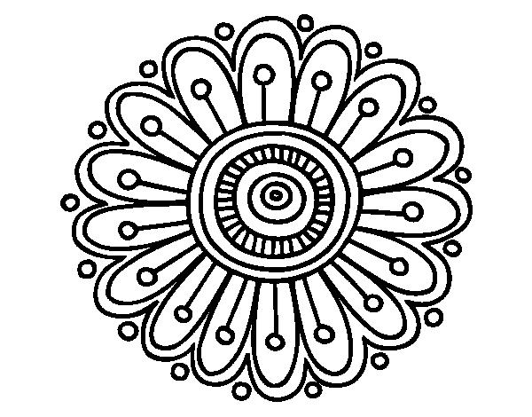 clip art stock Dibujo de un margarita. Mandala clipart basic simple.