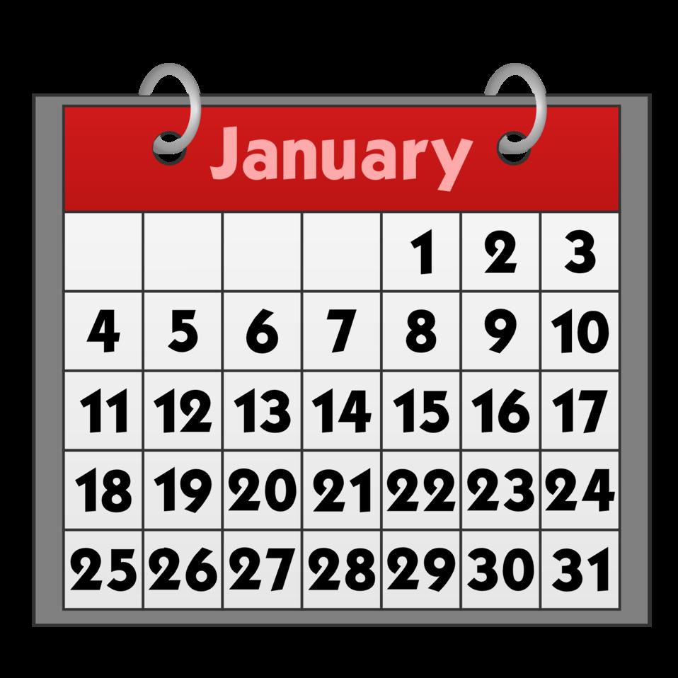 clip art freeuse Public domain clip art. January clipart for calendars.
