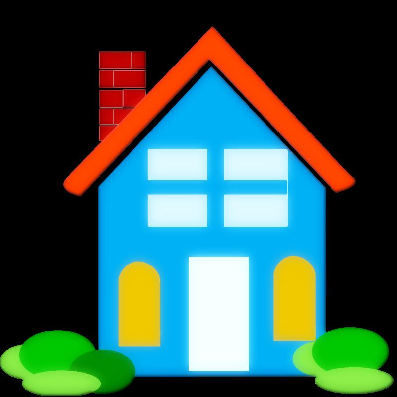 svg royalty free Mansion vector modern. Home clip art kid