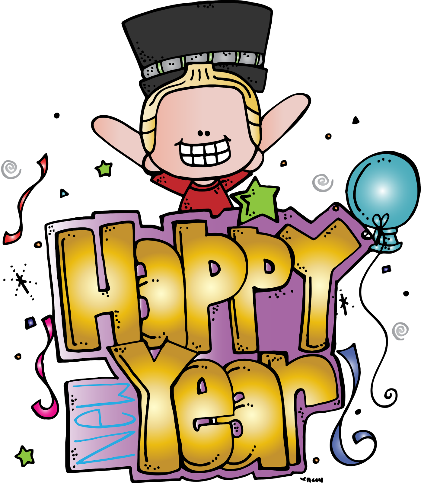 picture library library Year clipart 3 year. Melonheadz illustrating happy new