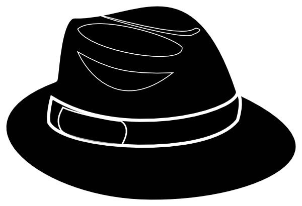 svg library download Black stencil clip art. Fedora clipart