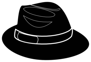 svg black and white Free cliparts download clip. Fedora clipart