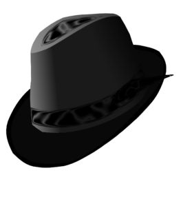 jpg transparent library Fedora clipart. Black clip art at