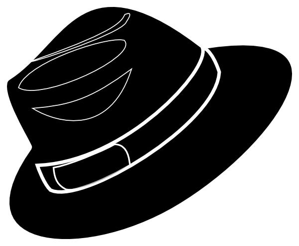 clip art Black Stencil Fedora Clip Art at Clker