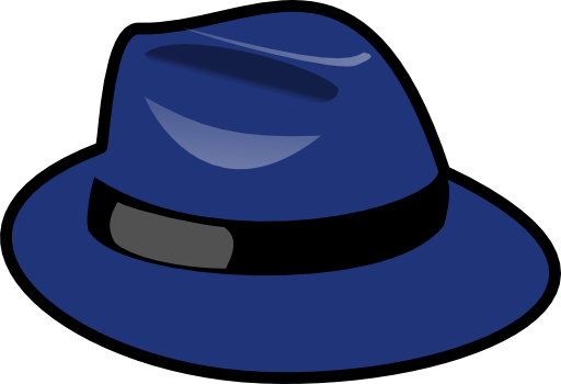 jpg transparent download Blue i royalty free. Fedora clipart boys hat.
