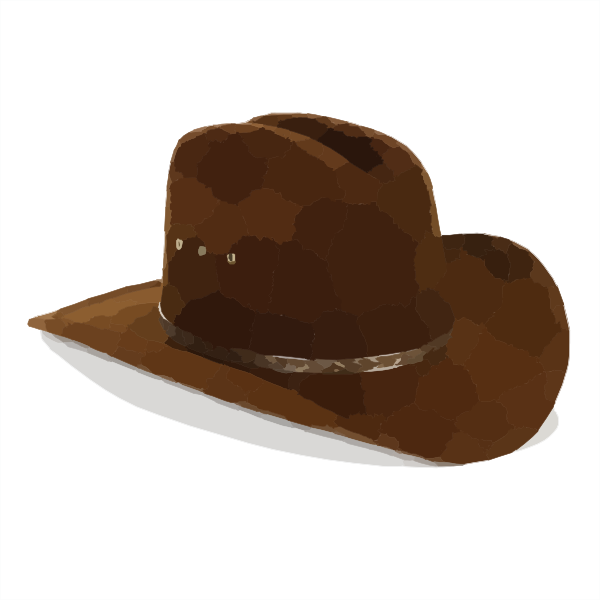 image royalty free download Cowboy clip art at. Fedora clipart boys hat