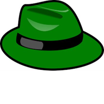banner black and white stock The Green Hat Defenders