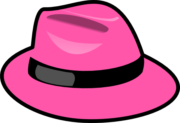 graphic black and white Pink Hat Clip Art at Clker