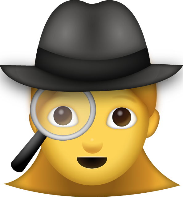 jpg free download Download Woman Detective Iphone Emoji Icon in JPG and AI