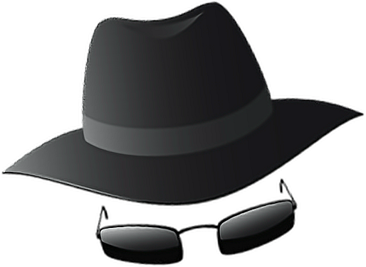 png black and white library hat spy glasses sunglasses undercover agentfreetoedit