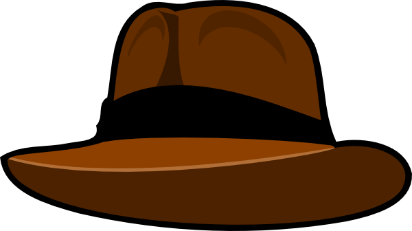graphic transparent library Clip art at clker. Fedora clipart.