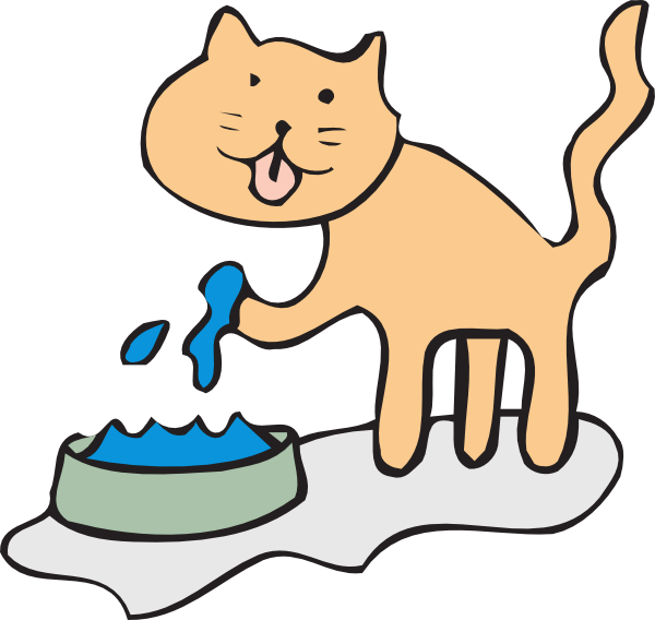 picture library stock Feed Cat Clipart