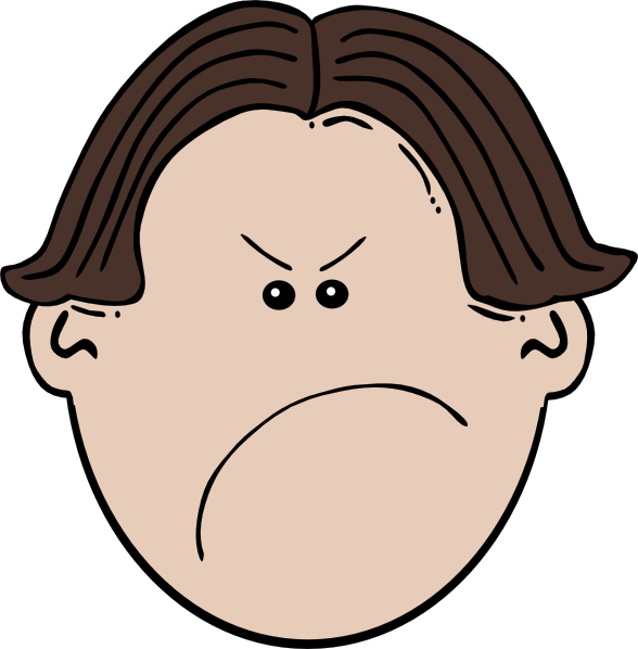 clip art library angry kids cartoons