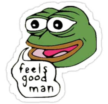 jpg transparent stock Pepe feels good man