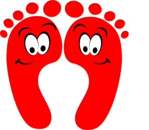 banner freeuse library Red happy clip art. Feet clipart