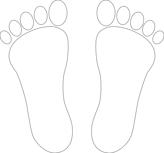 banner Feet clipart black and white.  collection of foot