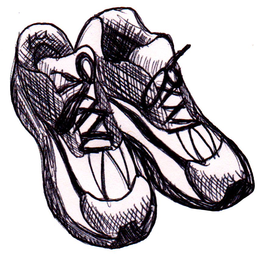 png royalty free download Drawing running sketch. Shoes clipart workout clothes