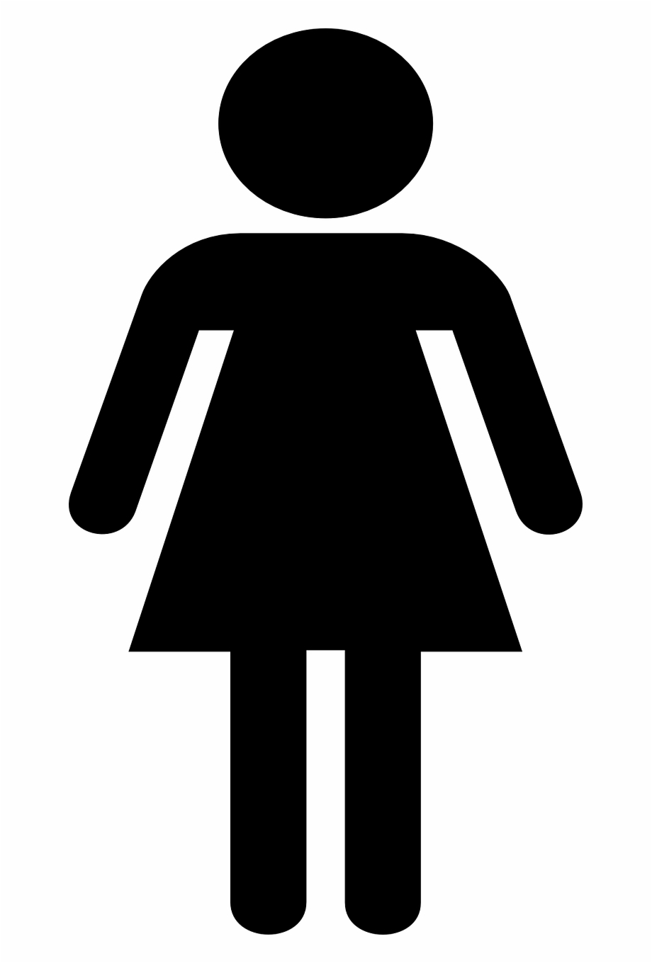 vector transparent stock Girl symbol toilet png. Female clipart.